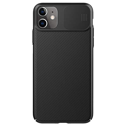 Nillkin Compatible with iPhone 11 Pro Max Case, CamShield Series Slide Camera Lens Protective Cover Anti-Scratch Non-Slip for iPhone 11Pro Max 6.5 inch (Black, for iPhone 11 pro max)