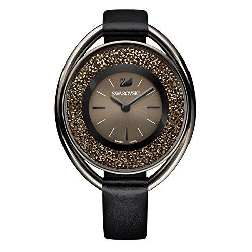 Swarovski Crystalline Oval Black Tone Uhr