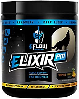eFlow Nutrition Elixir PM Night Time Fat Burner Thermogenic Sleep Aid - 3 Flavor Options (Tropical Cooler)
