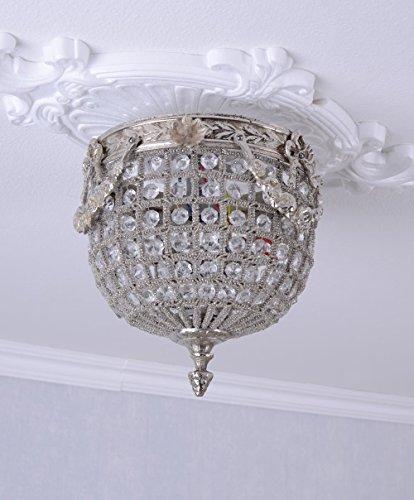 Hängeleuchte Antik Deckenlampe Kristalle Korblüster Lüster Barock Palazzo Exckusiv