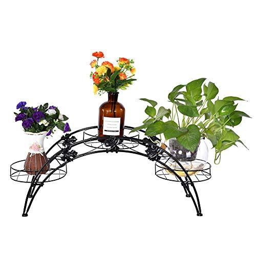 QFF Style europ/éen et am/éricain en bois massif Fer /à repasser r/étro Flower Multifonction /à plusieurs /étages Balcon Salle de s/éjour Plus de viande Landing Flower Pot Rack Flower stand