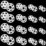 100 Paia Bottoni in Plastica Trasparente Bottoni Automatici in Plastica Trasparente Bottoni Invisibili per Abbigliamento DIY Bottoni Cuciti per Camicie, 7 mm, 12 mm, 15 mm, 21 mm