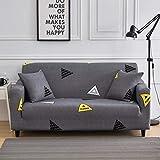 Juego de funda elástica para sofá de sala de estar y toallas, fundas de sofá antideslizantes para mascotas, funda de sofá Strech A17 de 1 plaza