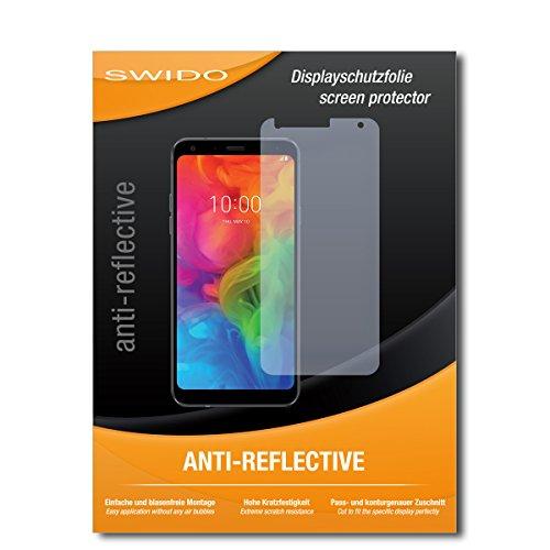 SWIDO Bildschirmschutz für LG Q7 Plus [4 Stück] Anti-Reflex MATT Entspiegelnd, Hoher Festigkeitgrad, Schutz vor Kratzer/Glasfolie, Schutzfolie, Bildschirmschutzfolie, Panzerglas Folie