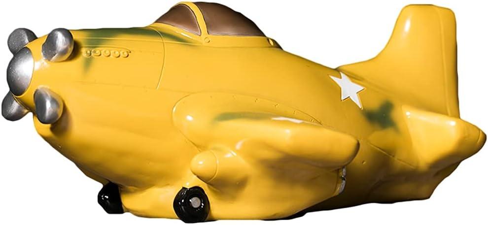 WQXD New products, world's highest quality popular! Resin Airplane half Piggy Bank Bo Saving Coin Cartoon Money