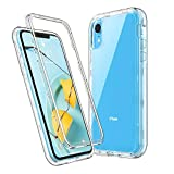 ULAK Stylish Crystal Clear Case for iPhone XR, Heavy Duty Hybrid Hard PC Back Cover with Shock Absorption Bumper and Front Frame Anti-Scratch Premium Phone Case for iPhone XR 6.1 inch, Clear