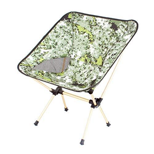 ZSLLO Campingstuhl Outdoor klappstuhl tragbare rückenlehne Angeln Stuhl hocker Freizeit Strand liegestuhl mittagspause Stuhl mond Stuhl Picknick Camping Reise Essentials (tragende 100 kg) Klappstuhl