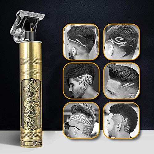 Haarschneidemaschine, Neu Aktualisiert Trimmer Herren Haarschneidemaschine Profi, T-Outliner Barttrimmer USB Wiederaufladbar Schnurloser Elektrischer Friseursalon T-Blade Trimmer für Männer