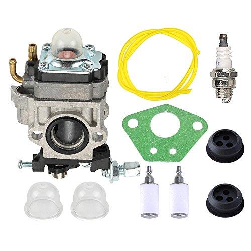 Buckbock 300486 Carburetor with Gasket Primer Blub Fuel Line Repower Tune-Up Kit for Earthquake E43 E43CE E43WC Auger MC43 MC43E MC43CE MC43ECE MC43RCE Tiller MD43 WE43 WE43E WE43CE Edger