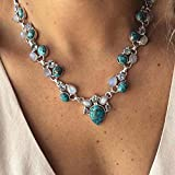 Victray Boho Turquoise Necklaces Summer Beach Necklace Chain Fashion Jewelry for Women and Girls
