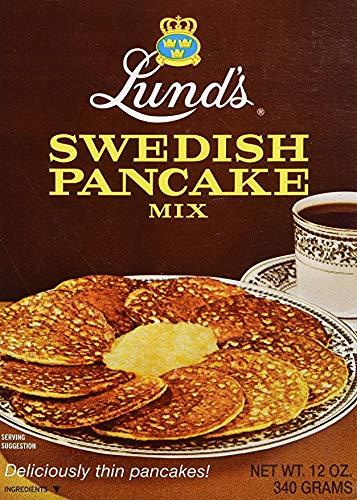 Lunds Pancake Mix, Swedish, 12 Ounce (2)
