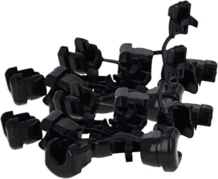 Fielect 5P-4 Electric Cable Protection The Power Cord Buckle Strain Relief Bushing Black 100Pcs