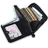 huanlang mens wallet rfid blocking multi card holder wallets for men bifold wallet with zipper