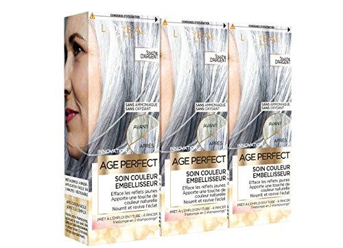 L'Oréal Paris Age Perfect Soin Couleur Embellisseur Touche d'Argent 80 ml - Lot de 3