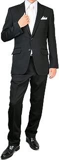 [UNITED GOLD] 礼服 メンズ シングル 高級 スリム ブラックフォーマル ノータック 4000
