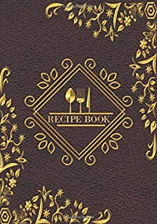 Recipe book: Recipe binder: Elegant recipe holder to Write In Recipe cards , chic Food Graphics design, Document all Your recipe box and Notes for ... Own Custom recipe keeper, 100-Pages 7