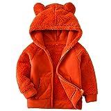 Unisex Baby Jacke Fleece Bär Hoodies, Zip-up leichte Jacke warme Kleidung Sweatshirt Outwear mit Ohren