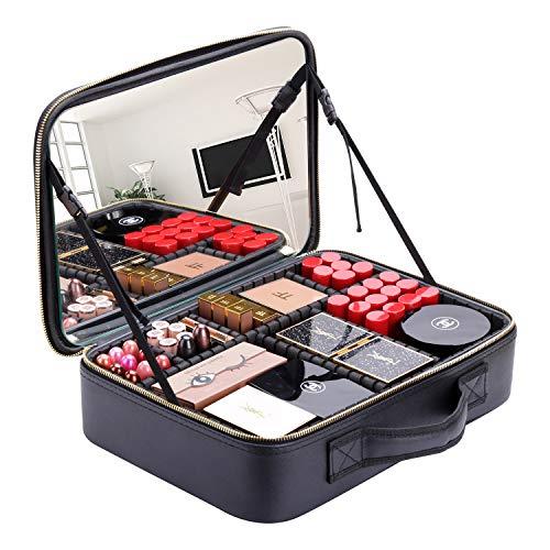 of makeup case professionals BEGIN MAGIC Makeup Case with Mirror,14.5