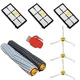 ASP-ROBOT® Recambios Roomba serie 800 y 900 (866 870 871 880 960 980). Pack repuestos: 3 x filtros,...