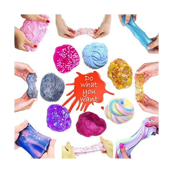 ESSENSON DIY Slime Kit for Girls Boys - 2 in 1 Slime Supplies [53 Pieces Set in One Box] Make Your Own Clear Slime… 6