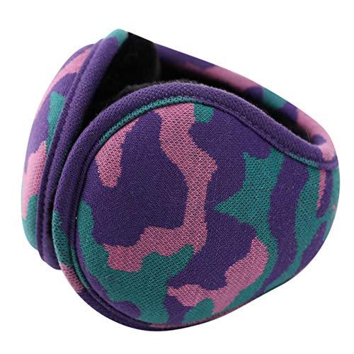 Armweqd Winter-Ohrenschützer Unisex Adult Soft Camouflage Design Winddicht Warm Winter Verstellbare Komfort-Ohrenschützer