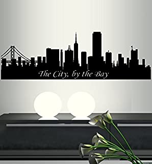 BestPricedDecals THE CITY BY THE BAY ~ SAN FRANCISCO SKYLINE: WALL DECAL 12