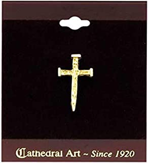 الهام بخش کلیپ کلیسای جامع Art T701 Nail Cross Inspirational Lapel Pin