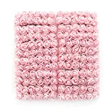 Mini Foam Rose Artificial Flowers Fake flower heads bulk wholesale for crafts For Home Wedding Car Decoration DIY Pompom Wreath Decorative Bridal Flower party Birthday Home Decor 144pcs 2cm light pink