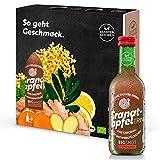 Kloster Kitchen GranatapfelTRINK BIGSHOT 3 x 250 ml mit echten Ingwerstückchen I Bio Ingwer Shot vegan I 12 Shots je Glasflasche I Ingwershot süß-scharf ohne Zusatzstoffe & mit natürlicher Süße