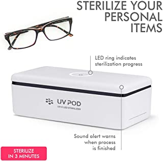 LED UV Sterilizer Box (Professional) Ultraviolet Light Bacteria Sanitizer Cosmetic Cleaning Tool Kid Pacifiers Toy Cleaner Toothbrush Nail Beauty Salon Art Makeup Equipment Phone Disinfectant Retainer