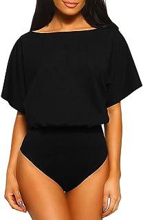 女性の夏のセクシーな半袖プレイスーツクラブウェアジャンプスーツボディスーツ