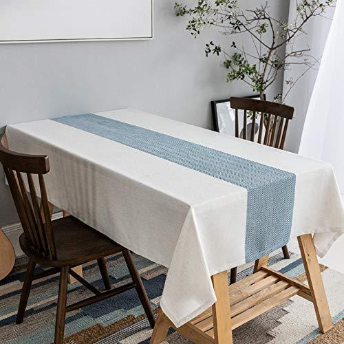 YDyun Borla del Paño de Tabla del Lino del Algodón para la Cubierta de Tabla de Cena del Banquete Corredor de Mesa de Lino de poliéster Simple Impermeable a Juego