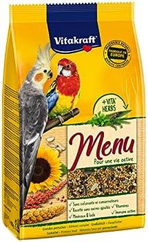 VITAKRAFT Menu Grandes Perruches - Alimentation Premium pour Oiseau - Sachet fraîcheur de 900gr - le lot 2