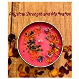 Intention Candle with Gemstones - Physical Strength and Motivation - Soy Candles for Prosperity, Ritual and Meditation. Explore now!