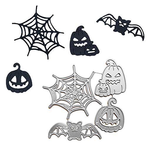 Fewxdsad Halloween Ghost Calabaza araña Set de Troqueles de Corte Plantilla DIY Scrapbooking álbum Sello Tarjeta en Relieve