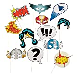 Super Hero Stick Costume Props (1 Dozen) PhotoBooth Supplies, Birthday...