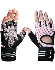 BOODUN Eroilor handskar för tyngdlyftning, andningsbara gymhandskar med handledsstöd och halkfritt grepp vadderad palm för träning, träning, fitness, cykling och träning, kvinnor/män