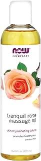 Now Foods Tranquil Rose Massage Oil 8 oz 3 Pack