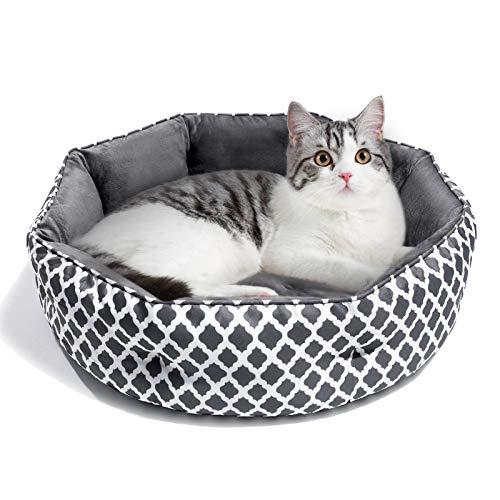 JOYO Hundebett Katzenbett Weiches und Warmes Haustierbett, Flauschiges und Waschbares Hundesofa mit Zweiseitig Innenkissen, rutschfestes & kuscheliges Hundekissen für Katzen, Welpen und kleine Hunde