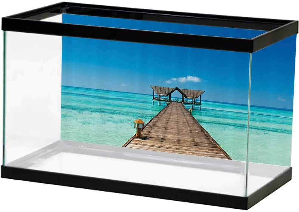 Scenery Decor Fashion Aquarium New product! New type Fish Tank Deck Oce Tropical Wooden Exotic