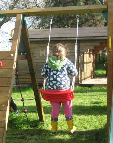 Land-Haus-Shop Schaukel aus Kunststoff belastbar bis max. 40 kg, Kinderschaukel, Gartenschaukel (LHS)