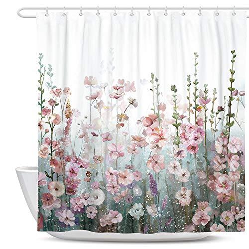 SUMGAR Flor Cortina de ducha Coloridas cortinas de baño