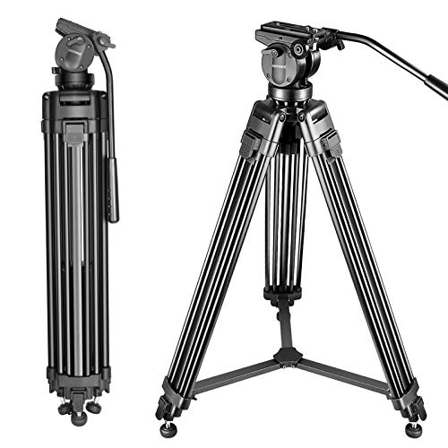 Neewer Professional 61 inches/155 Centimeters Aluminum Alloy Video Camera Tripod with...