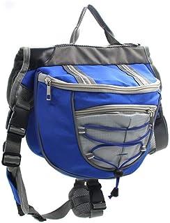 Nfudishpu Dog Saddle Bag Adjustable Saddle Bag Backpack for Dog, Detachable Pack Instantly Turns Into Harness, Tripper Hou...