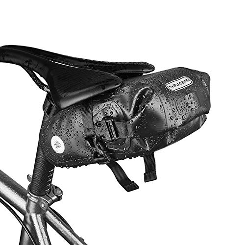RBB-Bike Bag Zadeltas, Waterdichte Fietstas, Fietszitzak, Draagbare Opbergtas voor Fietsstoel 1.5L Grote capaciteit, Geschikt voor racefiets, Vouwfiets