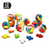 Big Mo's Toys Puzzle Erasers - Individually Wrapped Goody Bag Party Favor and Stocking Stu...