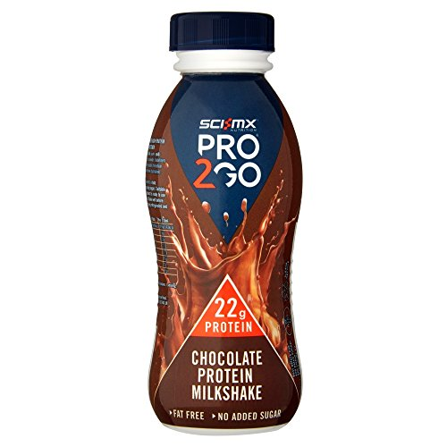 SCI-MX Nutrition PRO2GO Chocolate Protein Milk Shake, 310 ml pack of 8