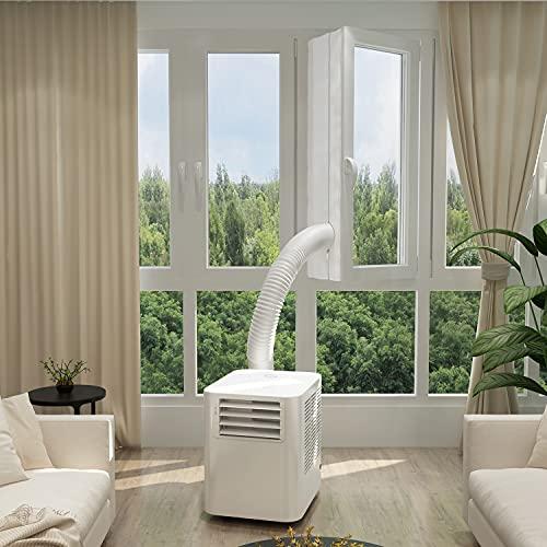 Famgizmo 9.000BTU Mobile Klimagerät mit Kühlen, Entfeuchten, Ventilieren, 360m³/h Luftleistung, 3 Geschwindigkeit, 0-24H Timer, 2,6KW Klimaanlage Mobil mit Abluftschlauch und Fensterabdichtung, R290