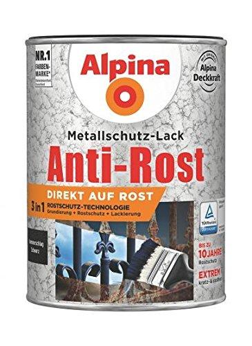 Metallschutzlack Hammerschl. schw. 0,75l Anti-Rost, RAL 9007