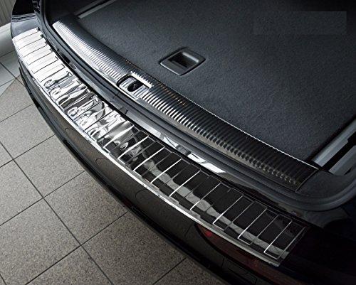 Avisa 2/38007 Chrom Edelstahl Heckstoßstangenschutz kompatibel mit Audi Q5 2008-2012 & 2012- 'Ribs'